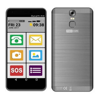 Maxcom MS553 FS (Dual Sim) LTE 5.5″ Android 7.0 1280*720 QHD IPS Quad Core 1.45 GHz 2GB/16GB Μαύρο